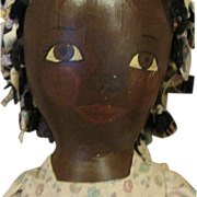 Large Vintage Black Primitive painted cloth doll