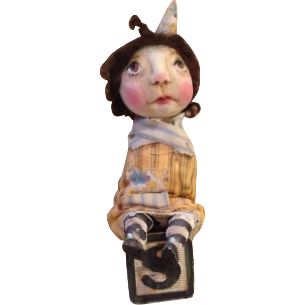 Primitive OOAK adorable doll
