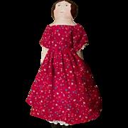 Cute Izannah style cloth painted doll