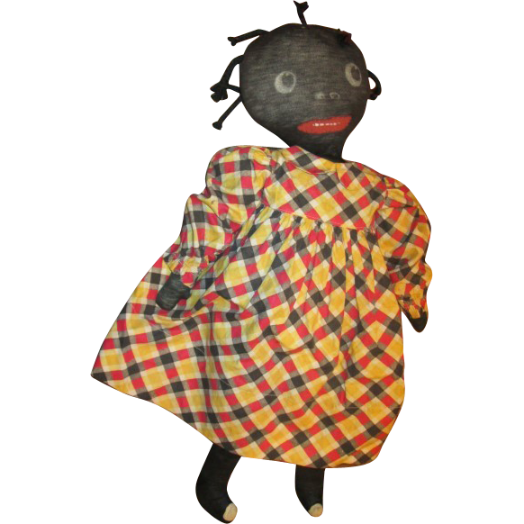 Old Black stockinette doll