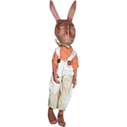 Primitive sculpted Bunny Rabbit boy One of a kind