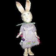 Primitive sculpted Bunny Rabbit OOAK