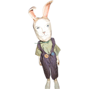 Primitive sculpted Bunny Rabbit OOAK