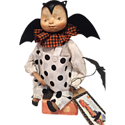 Adorable halloween Bat boy by Patty Cake primitives OOAK
