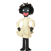 Cute whimsical black doll.