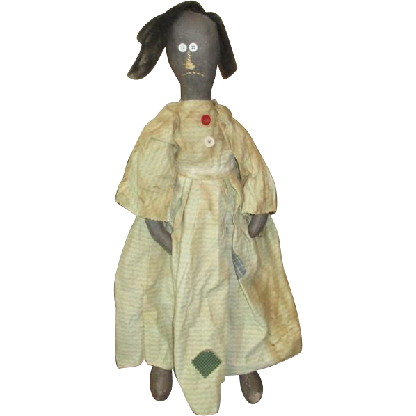 Captivating primitive folk art Black doll