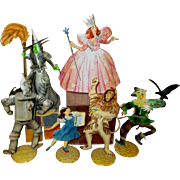 Wizard of Oz vintage metal dolls one of a kind