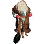 Santa one of a kind sculpted doll