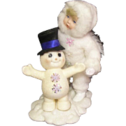 Adorable Snow Angel & Snowman