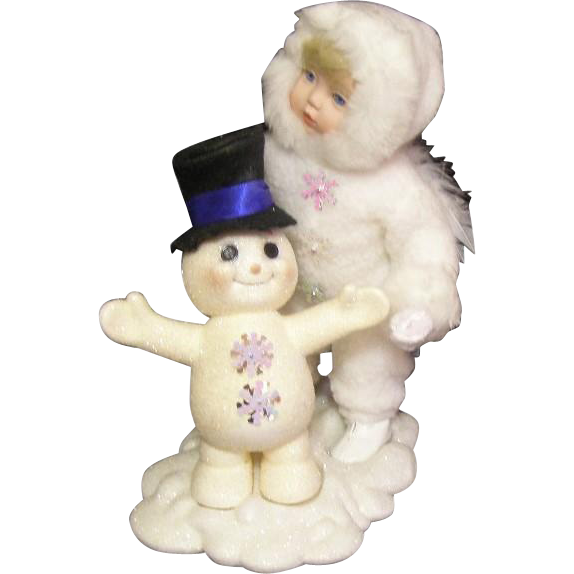 Adorable Snow Angel & Snowman