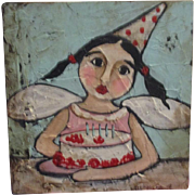 Adorable Angel painting by Karen Milstein