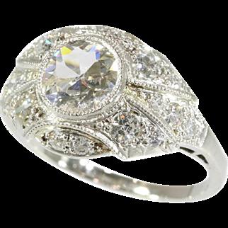 Art Deco Diamond Engagement Ring ca.1920