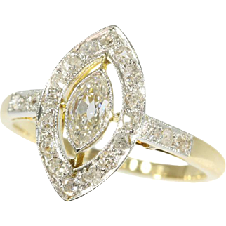 Belle Epoque Diamond and Gold Ring ca.1910
