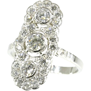 Diamond and Platinum Engagement Ring ca.1950