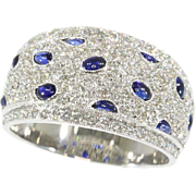 Vintage Sapphire and Diamond Band ca.1990