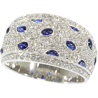 Vintage Sapphire and Diamond Band ca.1990