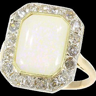 Art Deco Opal and Diamond Ring ca.1920