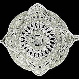 Edwardian Diamond and Platinum Brooch ca.1910
