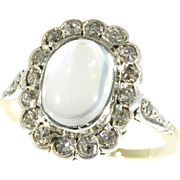 Estate Moonstone and Diamond Ring ca.1940