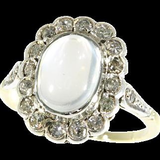Estate Moonstone and Diamond Ring ca.1940