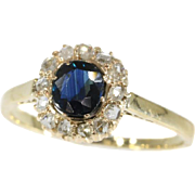 Diamond and Sapphire Engagement Ring ca.1935