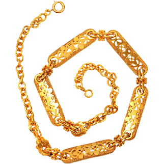 Victorian Antique Gold Necklace Chain ca.1850