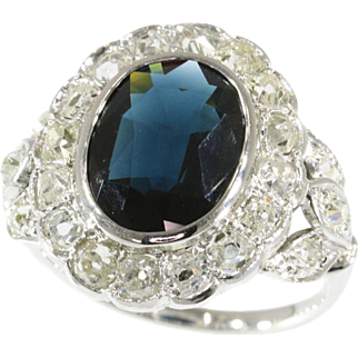 French Art Deco Sapphire Ring ca.1925