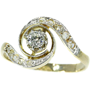 Belle Epoque diamond engagement ring twister model