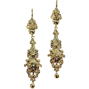 Victorian Gold Dangle Earrings ca.1870