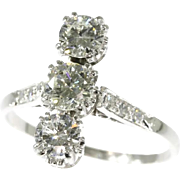 Vintage Diamond and Platinum Engagement Ring ca.1950