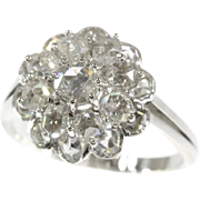 Vintage Gold and Diamond Cluster Engagement Ring ca.1950