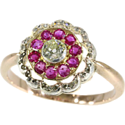 Antique Ruby and Diamond Ring ca.1890