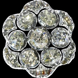 Antique Diamond and Silver Button c.1750