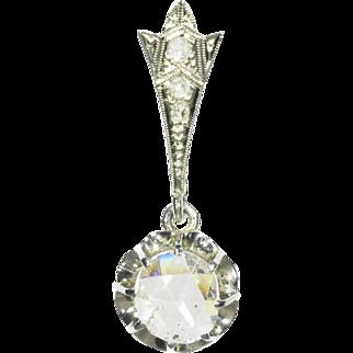 Art Deco Diamond and White Gold Pendant ca.1920