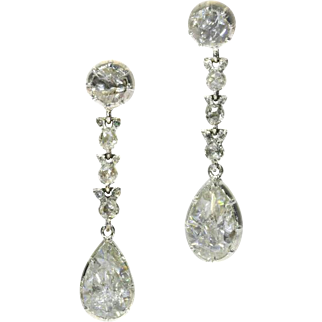 Fine Antique Georgian Diamond Dangle Earrings ca.1820