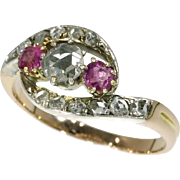 Ruby and Diamond Victorian Ring ca.1880