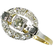 Art Deco Diamond and Gold Ring c.1925