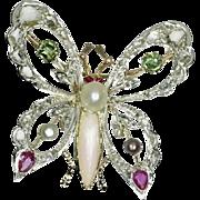 Vintage Butterfly Brooch c.1930