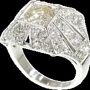 Art Deco diamond cocktail engagement ring c.1930