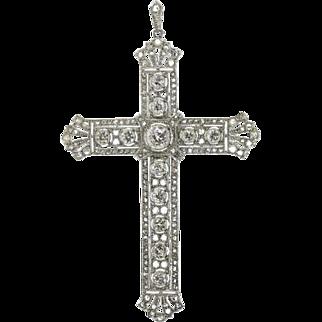 Edwardian diamond cross pendant ca.1915