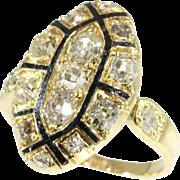 18th Century Enamel and Diamond Ring ca.1750
