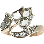 Antique Diamond and Gold Flower Ring ca.1870