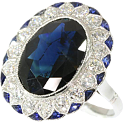 Art Deco diamond and sapphire engagement ring ca.1920