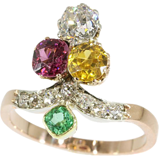 Antique Gemstones Ring ca.1890