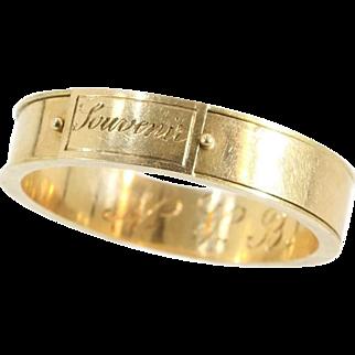 Antique Rose Gold Souvenir Ring ca.1850