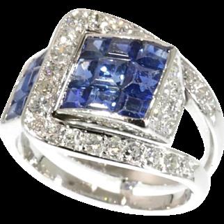 Van Cleef & Arpels Ring Diamond and Sapphire c.1940