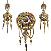 Victorian Gold and Diamond Set ca.1850