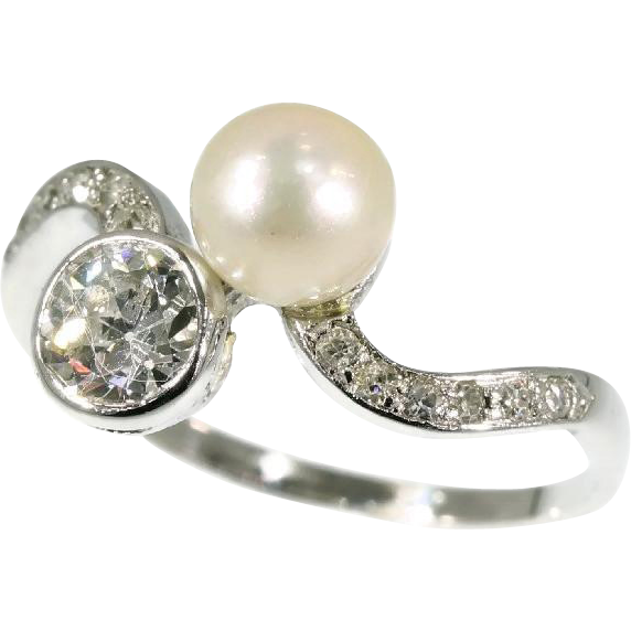 and pearl engagement ring ca 1920 from adin on