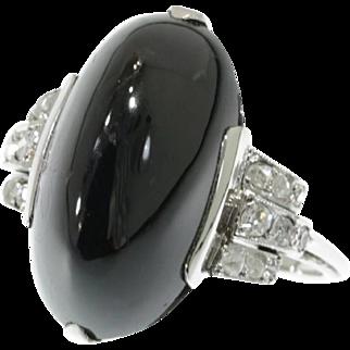 Art Deco Sugar Loaf Sapphire Ring ca.1920