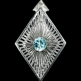 Blue Zircon Pendant by Chris Steenbergen
